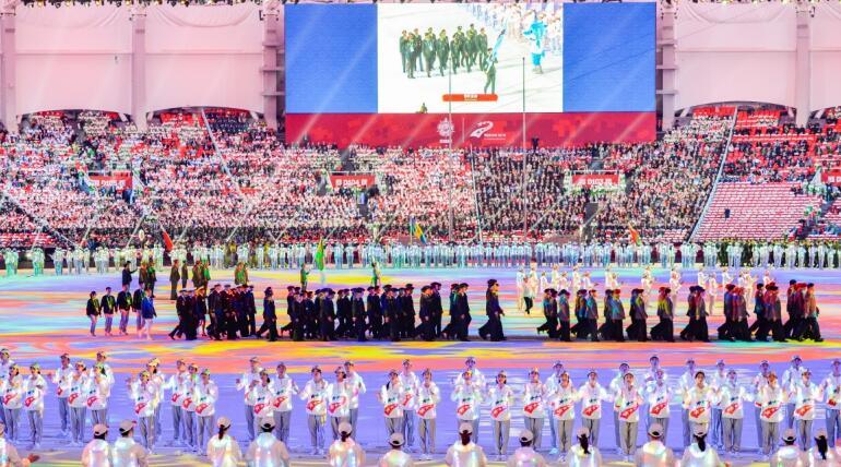 第七届世界军人运动会在武汉隆重开幕