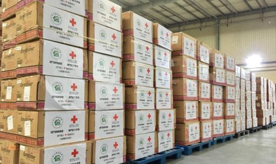 澳门红十字会与归侨总会捐赠60万个医用口罩