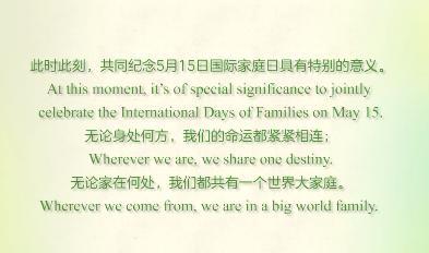 全球一家·同心同行:2020中外家庭共度国际家庭日