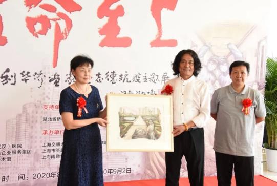 上海华侨画家赴武汉办抗疫主题画展 向湖北省博物馆赠画