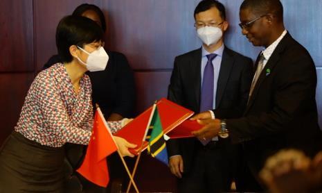 中坦签署经济技术合作协定