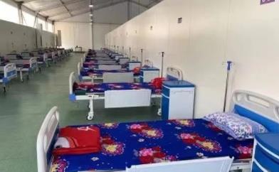 中国向缅甸援建方舱医院投入使用